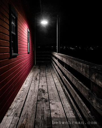 Street light on the dock