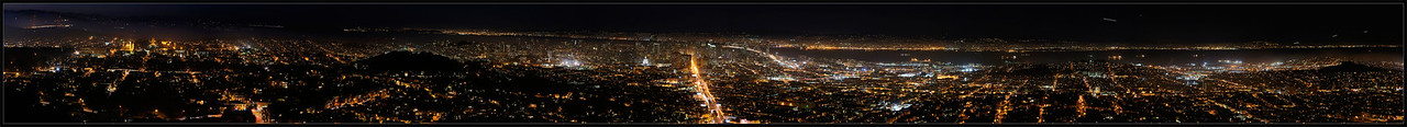 San Francisco Nighttime Panorama Labor Day evening  San Francisco, California  06-SEP-2010