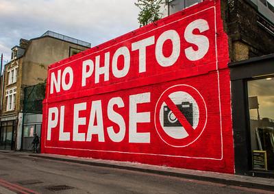 No Photos Please