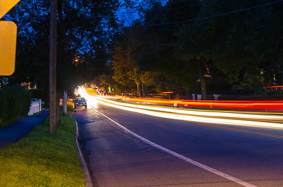 Elm Street, light trails