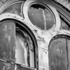Old Town Hall disrepair, detail (mono)