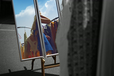 Flea market reflection.