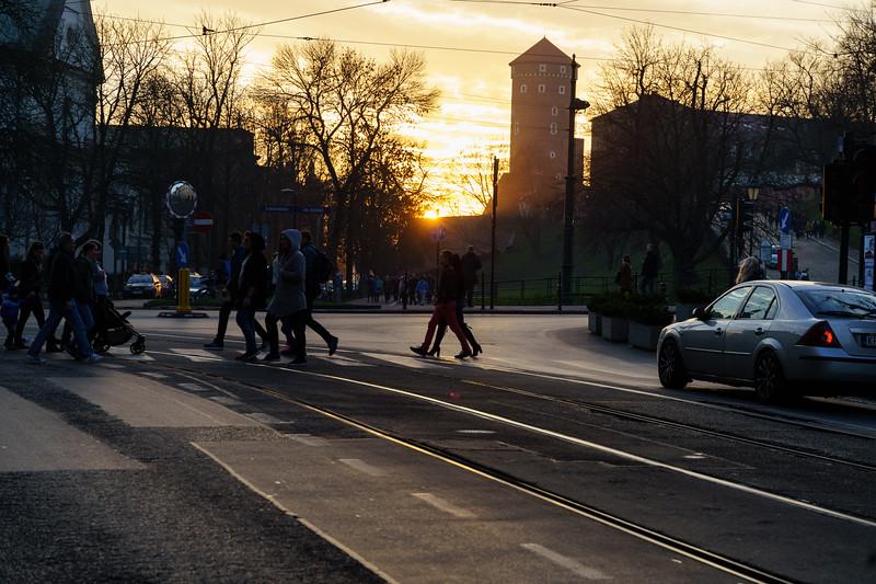 Sunset at Wawel
