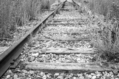 """Tracks To The Past""  A stock photo of old railroad tracks in Wisconsin. To license this image please follow this link http://www.genstockphoto.com/items/old-train-tracks/"