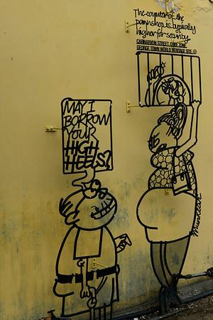Wrought iron caricature, Georgetown, Penang