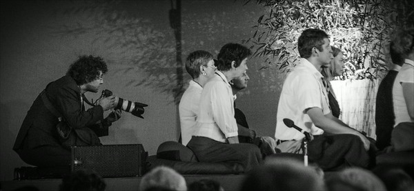 Photographer during Dalai Lama teaching in Prague 2013