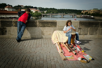 Musician on Charles bridge