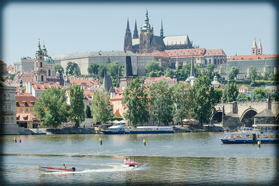 Summer view on Hradcany castle, Prague
