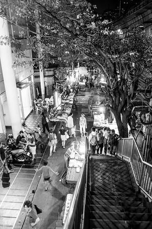 Bangkok, Thailand   Street vendors at night in Sukhumvit