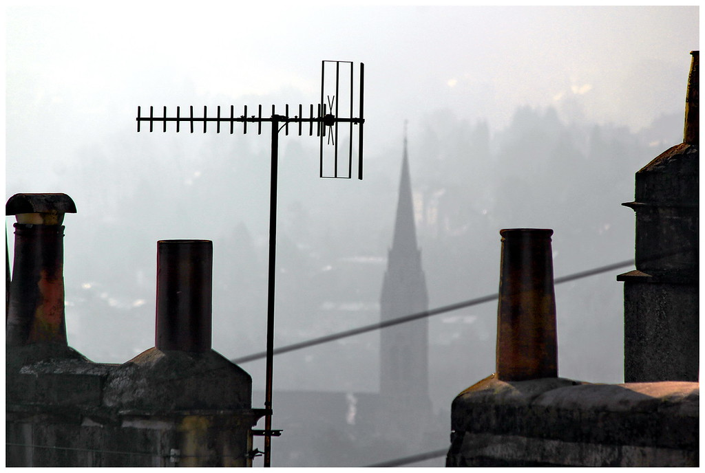 Lower Camden Misty Morning Roof View