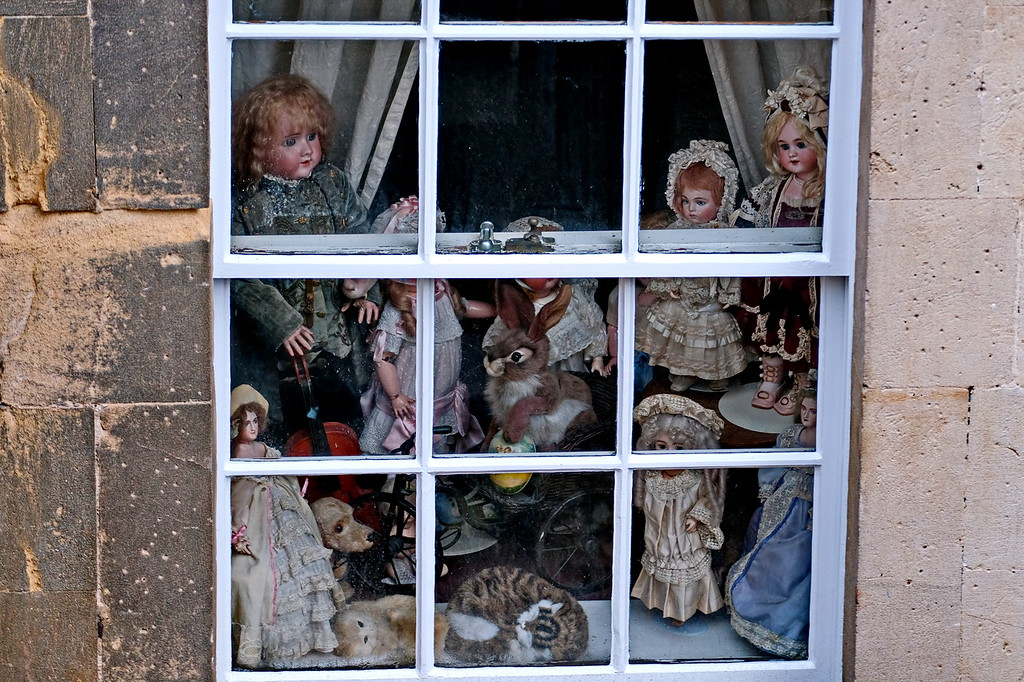 Dolls - Circus Basement Window