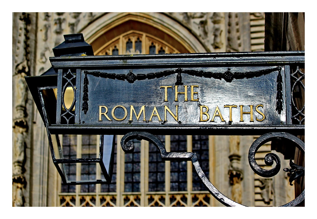 Roman Baths Sign