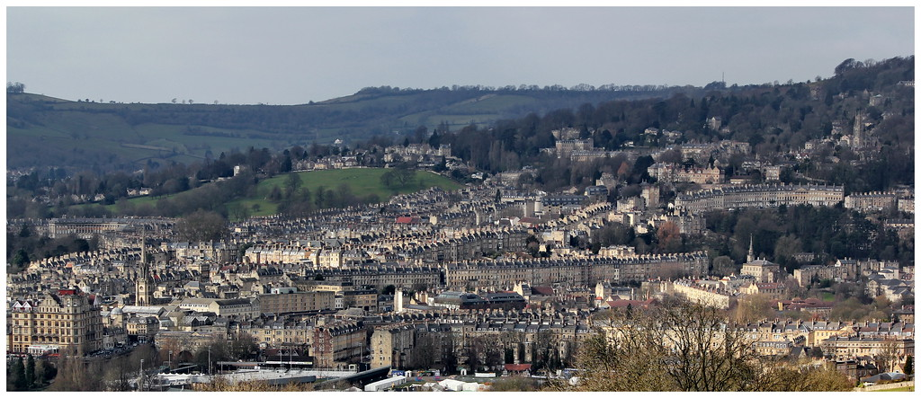 Panorama of Bath from Widcombe Hill