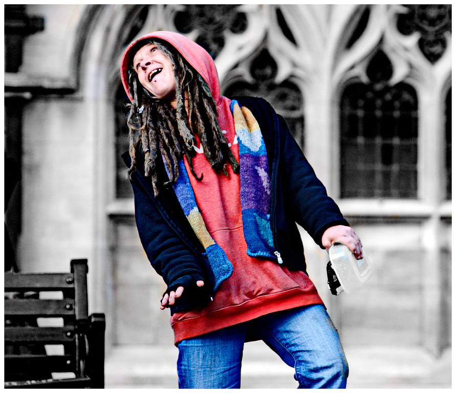 Street Lady Dancing - Abbey Yard Bath