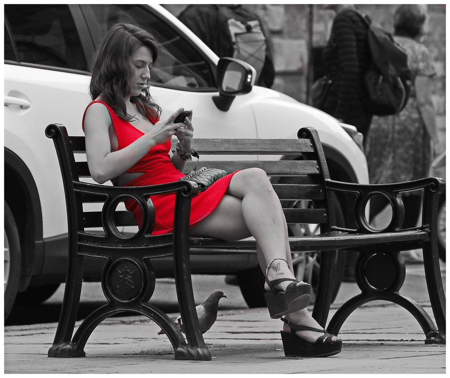 Lady in Red - Abbey Yard Bath