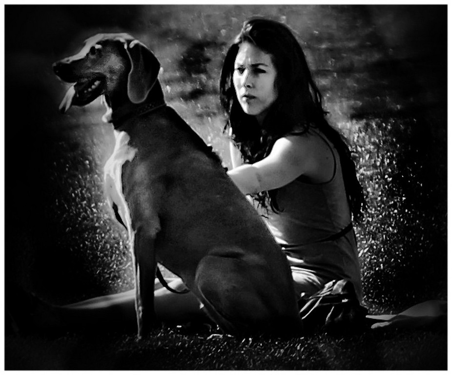 Girl and her Dog - Royal Crescent Lawns Bath