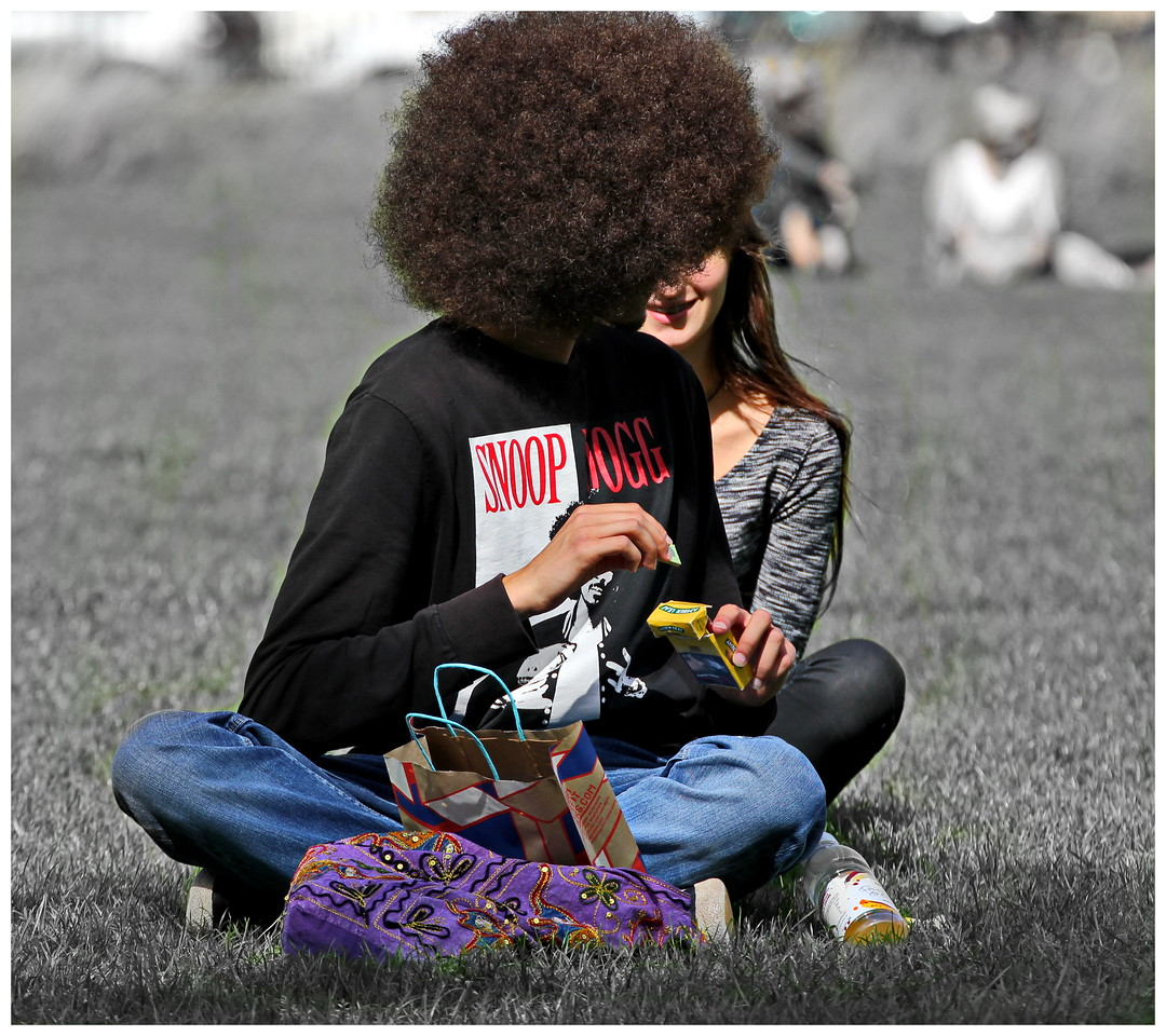 Afro Guy and Partner - Royal Crescent Lawns Bath