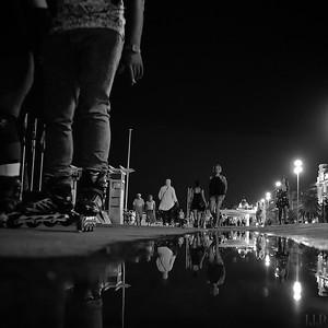 Promenade des Anglais, evening