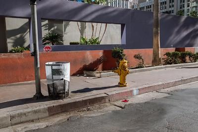 Stop Sign Peeking. Pershing Square.