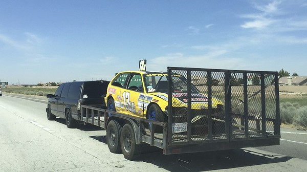 This guy was going to Speedway Willow Springs, their small oval track.