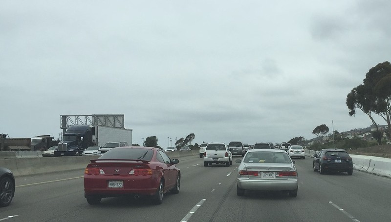 Traffic was heavy for a Saturday morning as I headed north through Los Angeles.