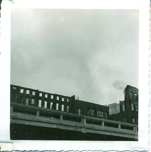 1955 Fire on Main Street and Rising Smoke (06375)