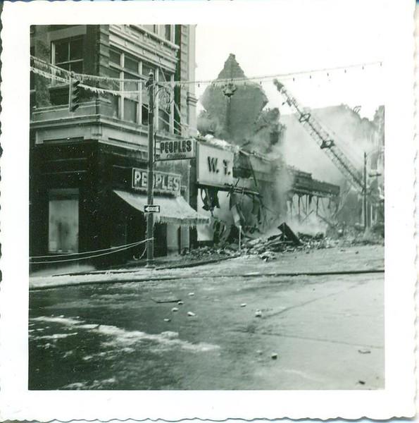A 1955 Fire on Main Street/Demolition Crane (06379)