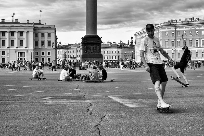 Skateboarder. Saint Petersburg, 2016.