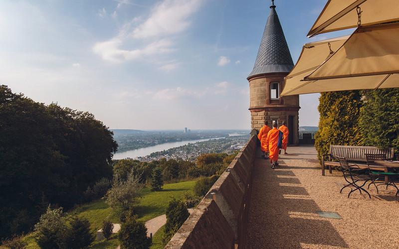 Buddhist Monks at Schloss Drachenburg, Germany, 2017.