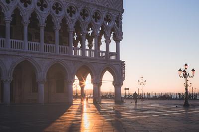 Sunrise at St. Mark's. Venice, Italy