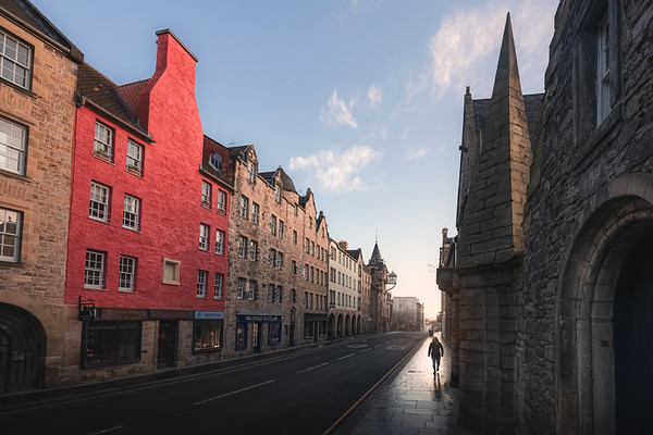 Quiet Royal Mile. Edinburgh, Scotland