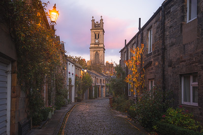 Circus Lane. Edinburgh, Scotland