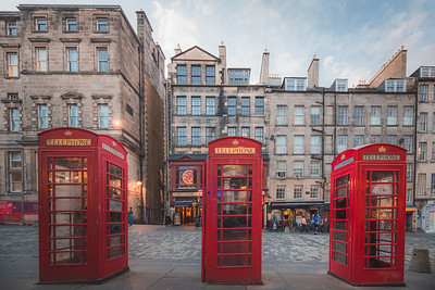 Red Telephone Boxes, Edinburgh