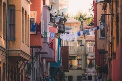Laundry Line. Istanbul, Turkey