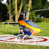 Painted Helicopter and Helipad