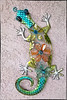 Gecko wall decoration