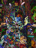 Gargoyle mask and doodle and other stuff mix