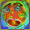 Bagel faces and mandala doodles mix