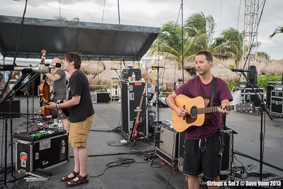 Yonder Mountain String Band soundcheck - Strings & Sol 12/11/13 - Now Sapphire Resort, Puerto Morelos Mexico - Photo © Dave Vann 2013