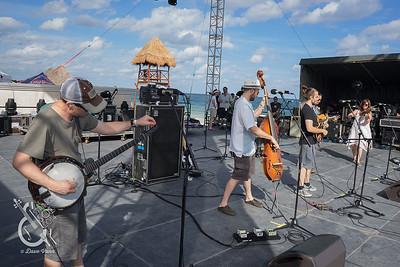 Yonder Mountain String Band Soundcheck 12/11/2014 Strings & Sol 2014 - Now Sapphire Resort, Puerto Morelos, Mexico. Photo © Dave Vann 2014