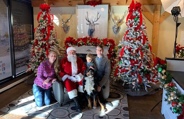 . The Brennecke family of Burlington with Santa