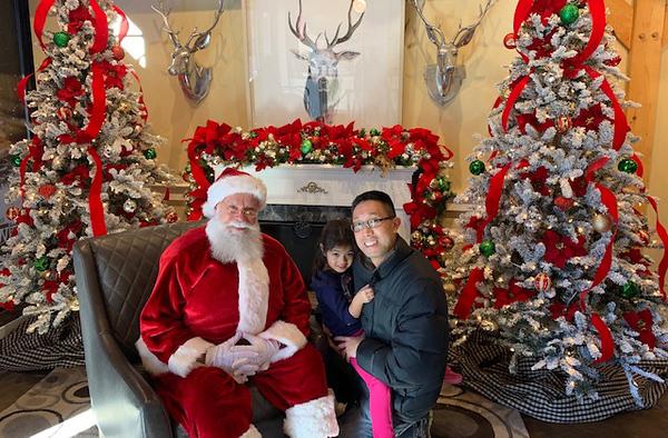. Santa and helpers