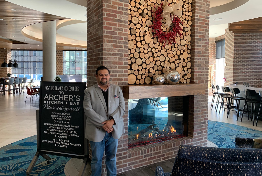 . Luis Gonzalez of Lawrence, director of food and beverage for The Archer Hotel
