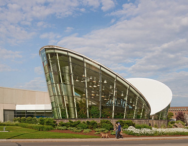 Exterior view of Strong National Museum of Play, Rochester, NY. Photo by Brandon Vick, http://brandonvickphotography.com/