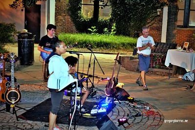 CC Minton Christine Thorpe of Stronger Tomorrow Wellness at DAS Downtown After Sundown Live Music Concerts in South Orange NJ