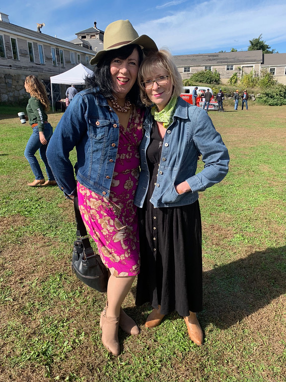 . Cowgirls Maura Ratchford and Mary Gaffney, both of Lowell