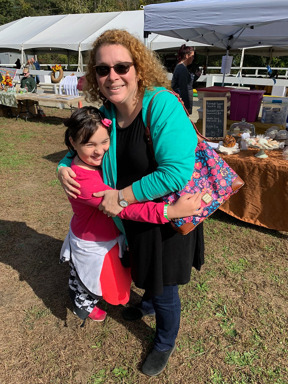 . Heather and Maya Soni of Wilmington. Maya loves the farm and takes lessons.