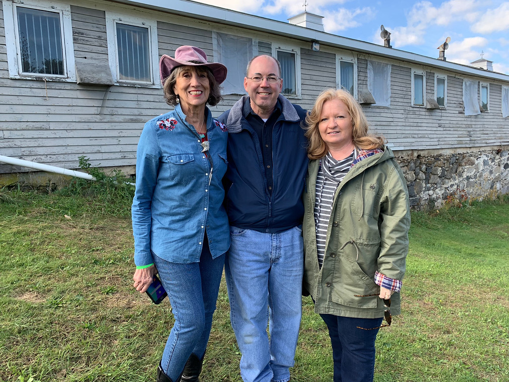 . From left, Strongwater Farm board Chairwoman Diana Lane of Melrose, with Dan and Sandy Connor of Boxboro