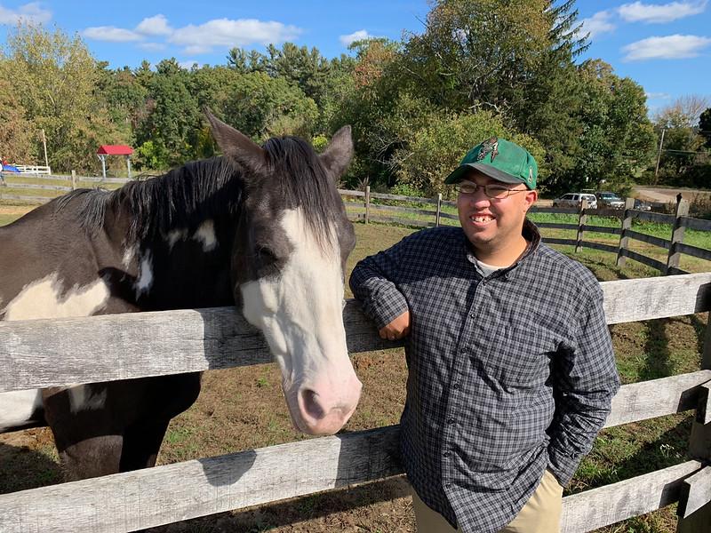 Strongwater Farm horse lover and outstanding volunteer Joshua Kelsey of Dracut