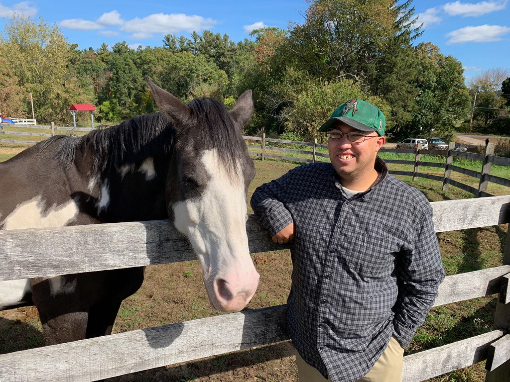 . Strongwater Farm horse lover and outstanding volunteer Joshua Kelsey of Dracut